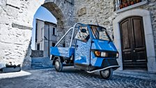 This week, Matt's in Italy, cruising at speeds of up to 40mph in his Piaggio Ape
