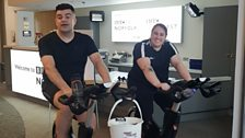 The ride was started off by assistant editor and Sunday breakfast presenter Anthony Isaacs and producer Debs Bishop
