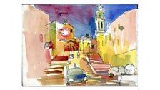 Painting of Manger Square Bethlehem - part 1