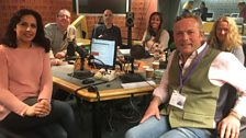 Presenters and guests in the studio - 24th March 2018