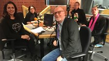 Presenters and guests in the studio- 31st March 2018