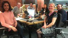 Presenters and guests in the studio - 7th April 2018