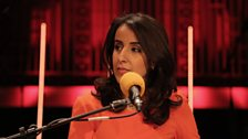 Journalist Nawal al-Maghafi leads the panel at the BBC Arabic Festival