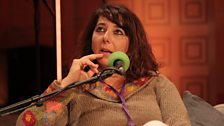 Documentary-maker Eliane Raheb onstage at the BBC Arabic Festival