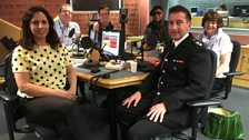 Presenters and guests in the studio - 5th May 2018