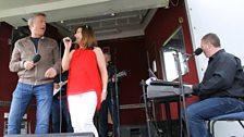 Dominic Kirwan and Lisa Stanley perform