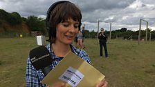 Julie with the treasure envelope