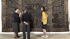 Noorah Al Gailani in front of the Wagner Carpet