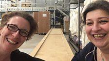 Reporter Carol Purcell with curator Noorah Al Gailani