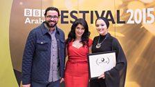 Shappi Khorsandi, Aly ElSotohy, and Jumana Saadeh