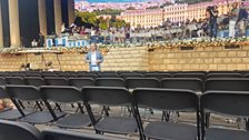Andre Rieu in dress rehearsal