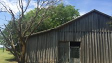 The barn where Emmett Till was murdered in August 1955