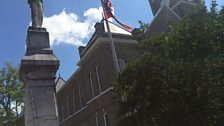 Confederate soldier, state flag and courthouse, scene of the notorious trial and aquittal of two of Emmett's killers