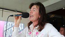 Bernie Heaney performing live in Strangford