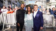 Tosin, Mandip and Bradley on the red carpet.