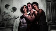 Henry McGrath as Egon Schiele, with dancers