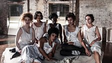 Dancers posing as Egon Schiele's models