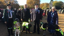 Blind veterans and guide dogs