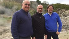 Peter Gibbs meets the team from Enel Green Power at a natural hot spring in Tuscany