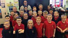Kintra visits Landhead Primary School