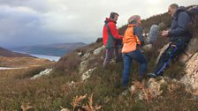 Searching for very particular granite high above Loch Ness