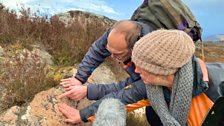 Rock hunting on Loch Ness side