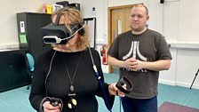 Pennie experiences VR Fire Investigation with