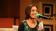 The film writer and academic Shohini Chaudhuri at the BBC Radio Theatre in London
