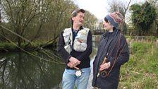 Eleanor learns the art of Zen fishing
