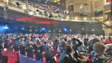 The audience at the Birmingham Hippodrome are ready for the show