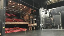 The empty stage at the Birmingham Hippodrome before our lighting and stage crews get their hands on it!
