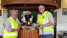Mark, Kevin and Euan at Okell's Brewery