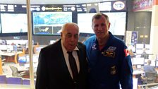 George Abbey, former Director of NASA Johnson Space Centre, and Dr Dafydd Rhys Williams.