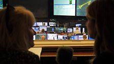 At NASA Mission Control today