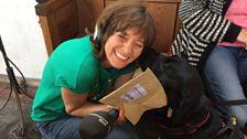 Julie's new friend Ellie the black Labrador had the treasure envelope on her!