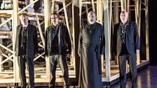 Jonathan Best as Archon, Ivan Sharpe as Schoolmaster, Stephen Gadd as Priest Grigoris and Jeremy Peaker as Father Ladas