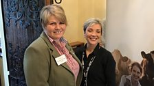 Nicola with Joyce Campbell - a hill farmer from Scotland