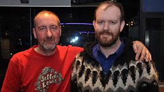 Mark Hamilton of Woodpigeon chats with Marc Riley