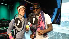 Skepta plays Pie Tennis