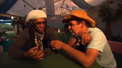Nile Rodgers chats to Craig Charles at Glastonbury 2013
