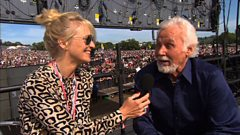 Kenny Rogers talks to Jo Whiley at Glastonbury 2013
