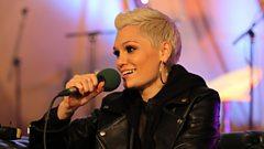 Jessie J backstage at Radio 2 Live in Hyde Park