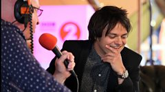 Jamie Cullum backstage at Radio 2 Live in Hyde Park