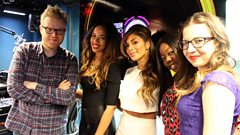 Nicole Sherzinger and X Factor finalists chat to Huw Stephens