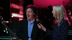 Paul McCartney chats with Lauren