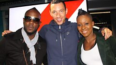Bunji Garlin and Fay-Ann Lyons in the studio with Nick Bright