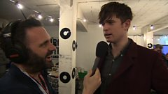 James Blake talks curry at the 6 Music Festival