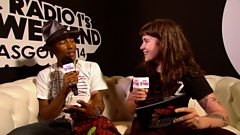 Pharrell Williams chats to Jen Long