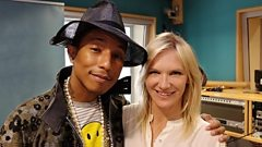 Pharrell Williams joins Jo Whiley in the studio