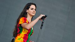 Lana Del Rey on the Pyramid stage